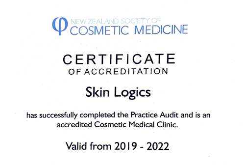 certificate of accreditation skin logics
